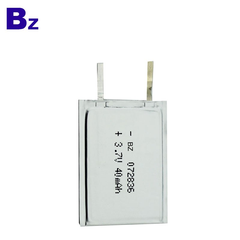 3.7V 40mAh Rechargeable Super-thin Battery