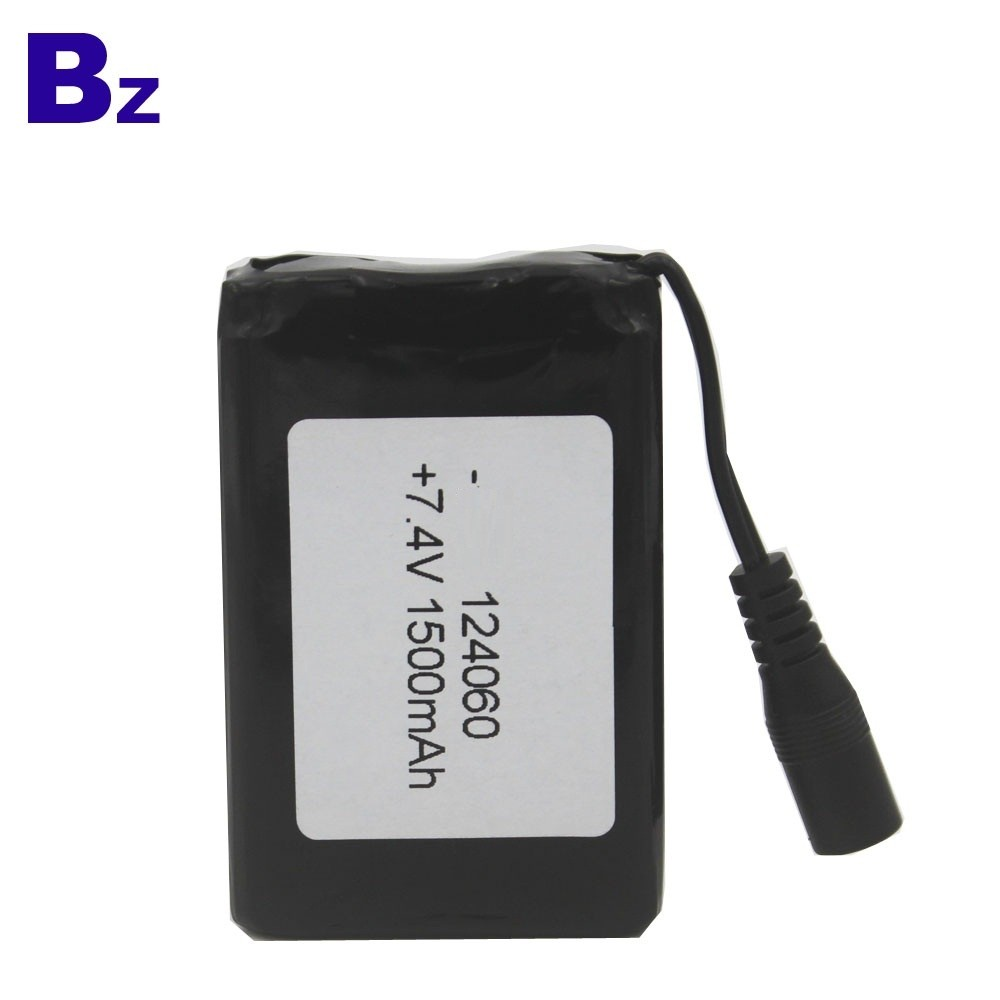 124060 2S 7.4V 1500mAh Polymer Li-ion Battery