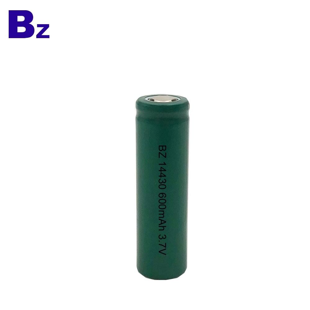 Customized Cylindrical Li-ion Battery BZ 14430 600mAh 3.7V Lithium Ion Battery