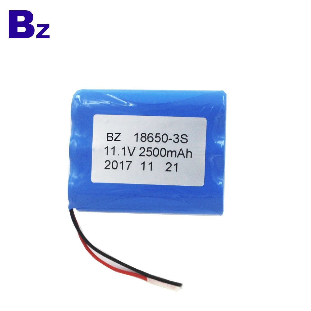 Customized Cylindrical Battery BZ 18650 3S 2500mAh 11.1V Rechargeable Li-ion Battery
