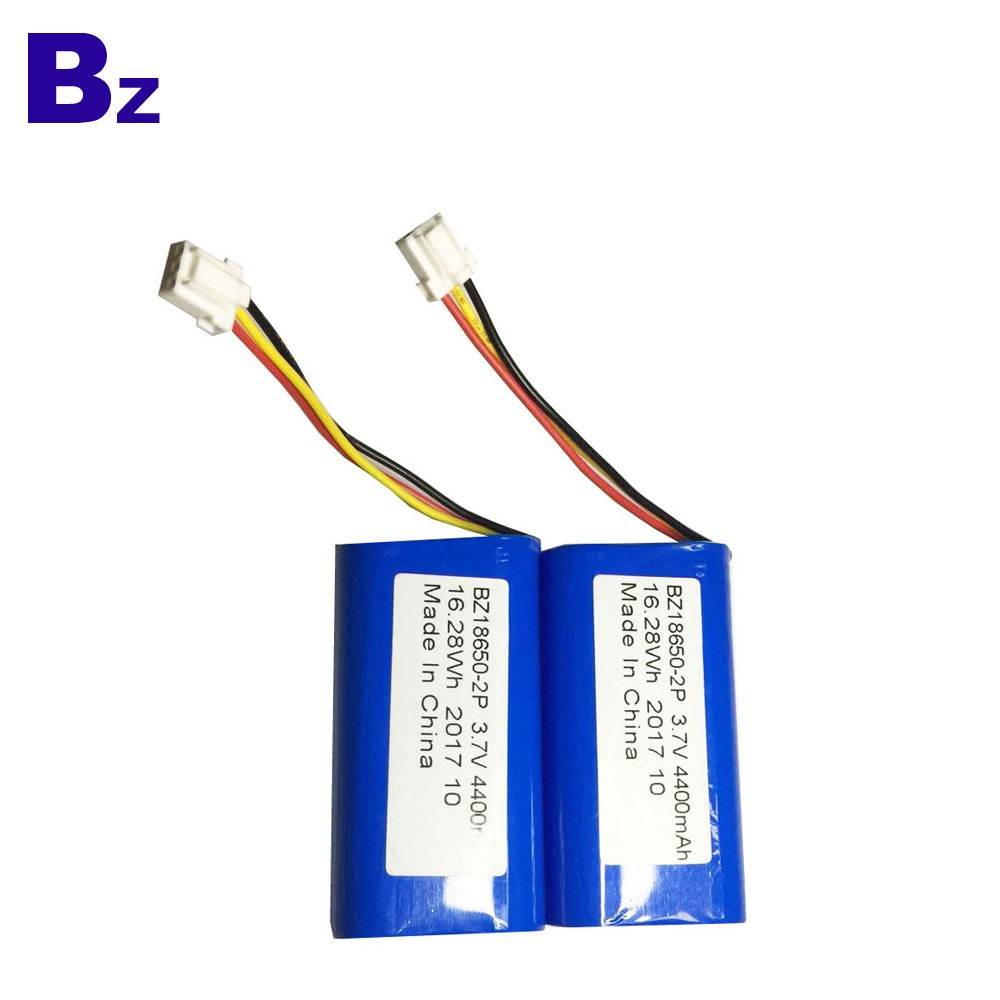 18650-2P Batteries 4400mah 3.7V Cylindrical Li-ion Battery