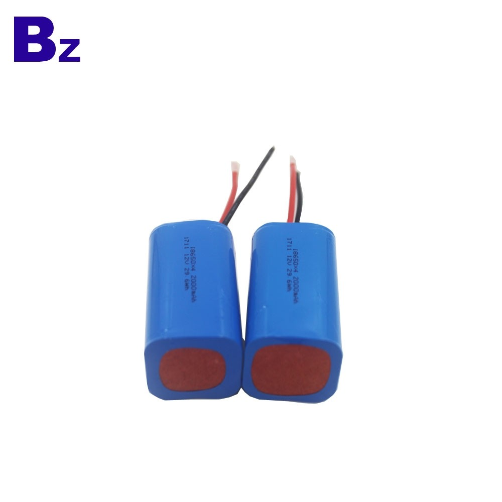 OEM Cylindrical Battery BZ 18650 4S 2000mAh 14.8V Rechargeable Li-ion Battery