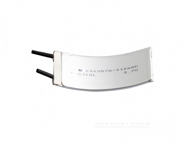 Li-ion Polymer Battery - BZ 232357 - 3.7V - 210mAh - Curved Battery - Rechargeable