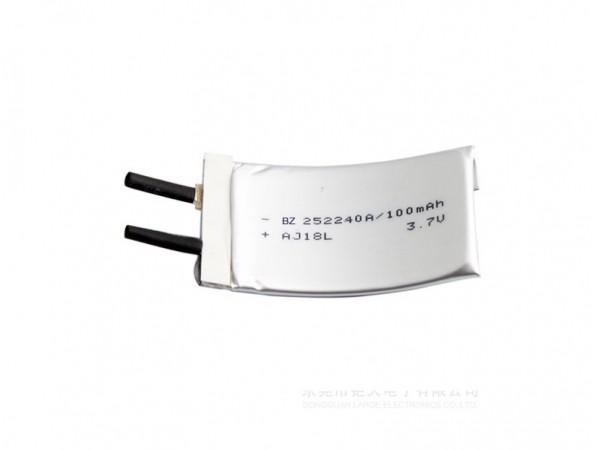Flexibel Battery - BZ 252240 - 100mAh - 3.7V - Lithium Ion Battery - Rechargeable