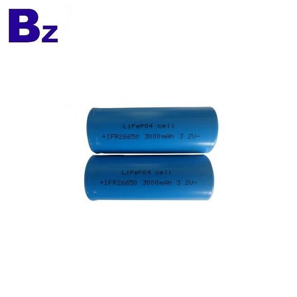 26650 3000mAh 3.2V LiFePO4 Battery