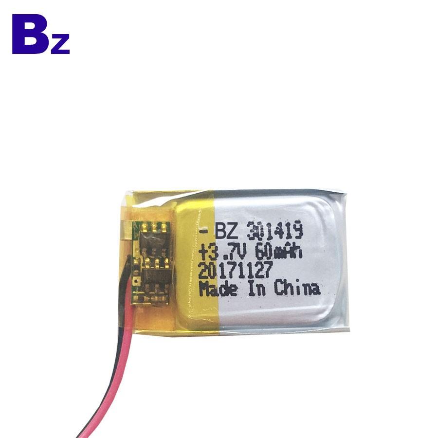301419 60mAh 3.7V LiPo Battery