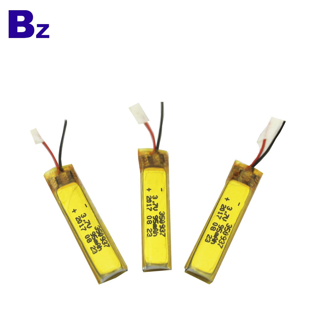 350937 95mAh 3.7V Rechargeable Li-Polymer Battery