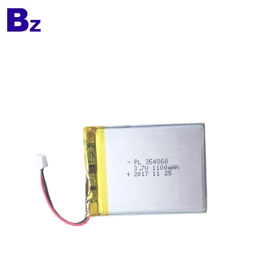 354860 1100mAh 3.7V Rechargeable LiPo Battery