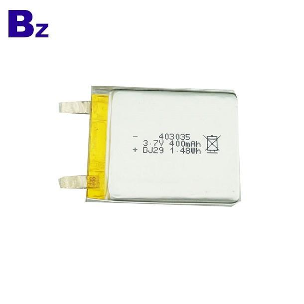 400mah 3.7V Rechargeable Li-ion Battery
