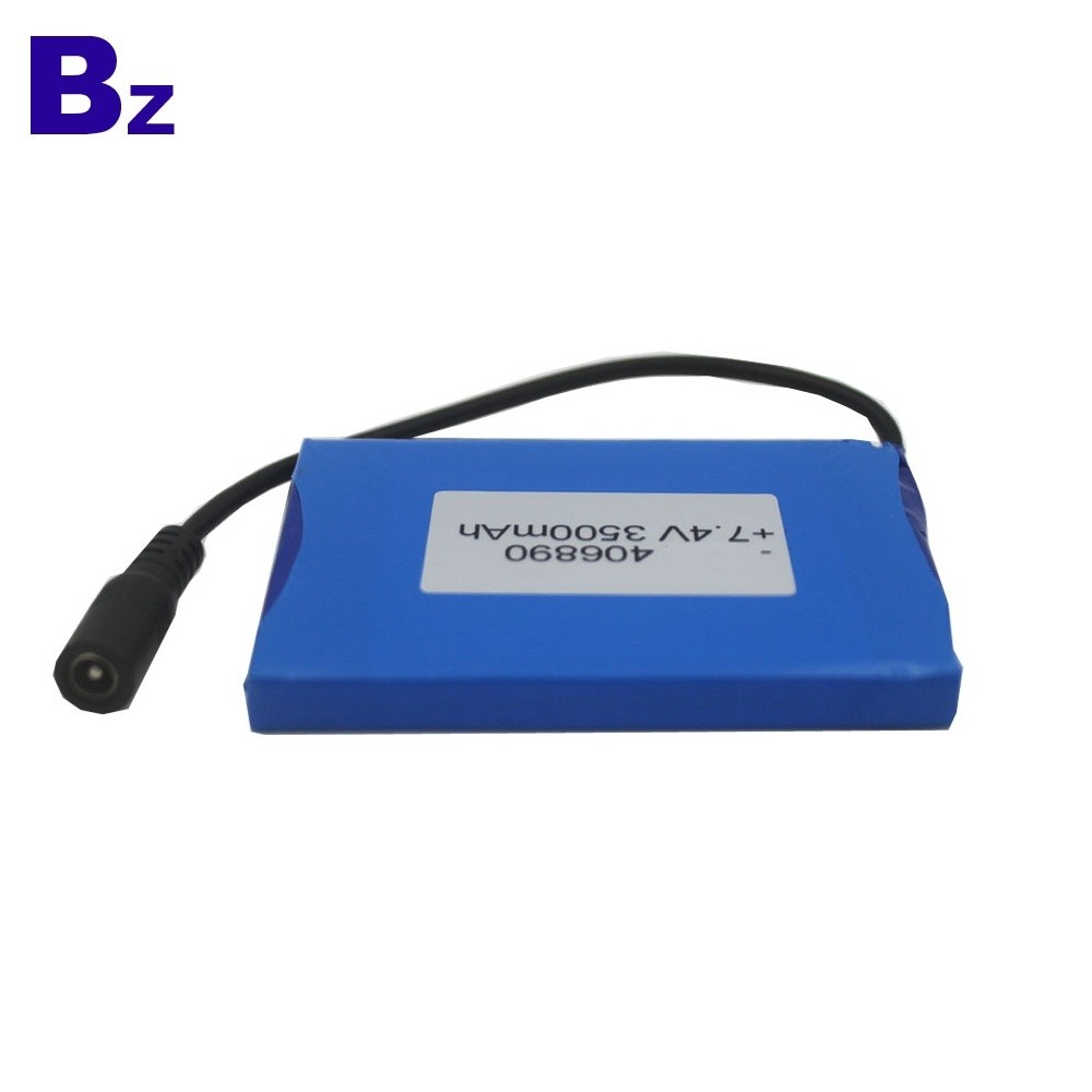 Customized Rechargeable Lipo Battery BZ 406890 2S 7.4V 3500mAh Polymer Li-ion Battery