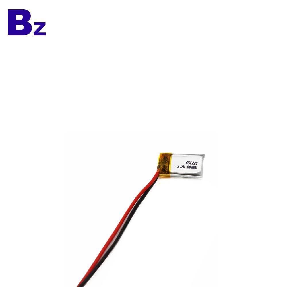 451220 80mah 3.7V LiPo Battery