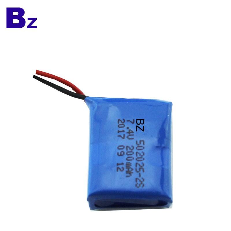 200mah 7.4V Rechargeable Polymer Li-Ion Battery