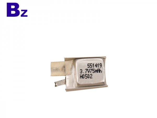 Digital Battery - BZ 551419 - 3.7V - 75mAh - Lithium-ion Polymer Battery - Rechargeable