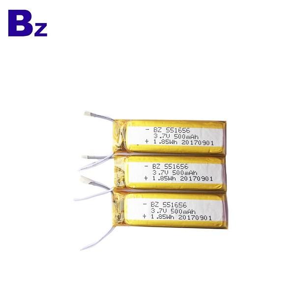 551656 500mAh 3.7V Li-Polymer Battery