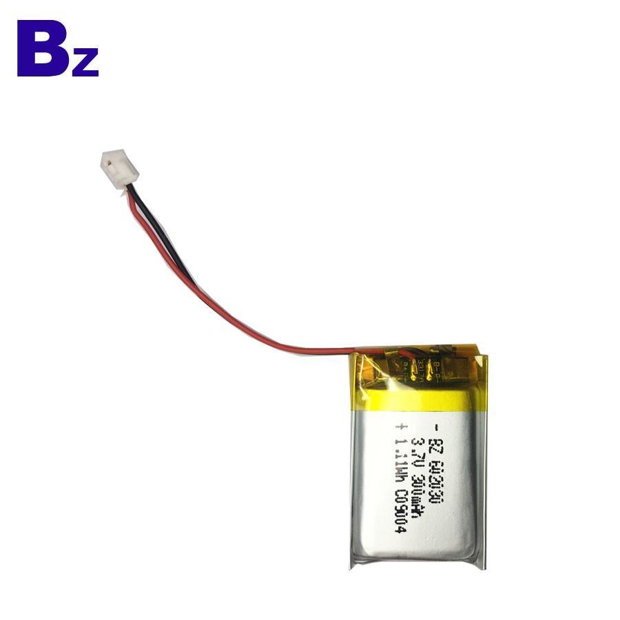 602030 300mAh 3.7V Li-Polymer Battery