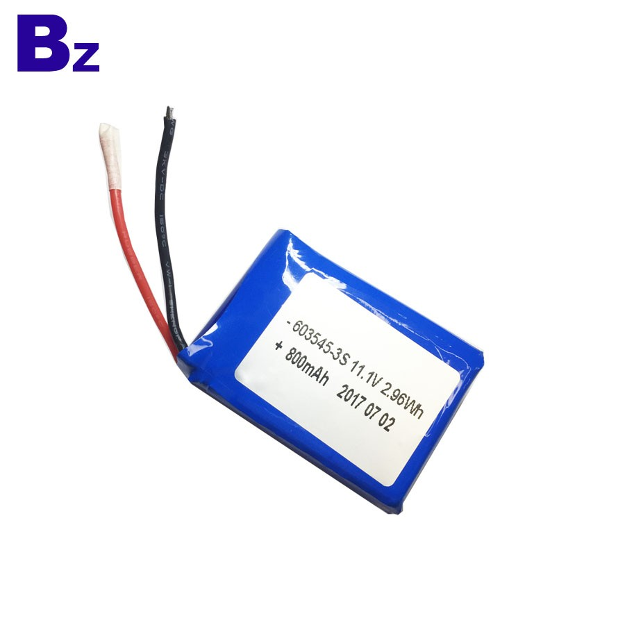 800mah 11.1V Lithium Polymer Battery Pack