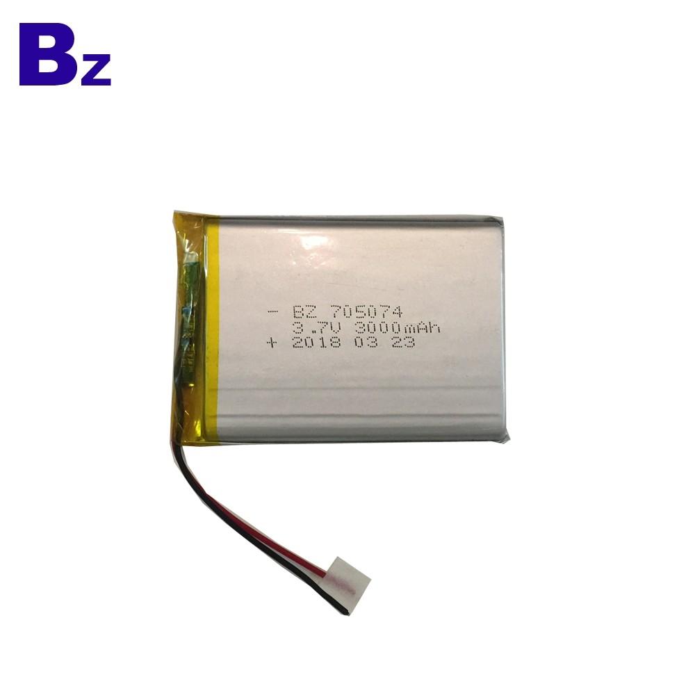 705074 3000mah 3.7V Lipo Battery