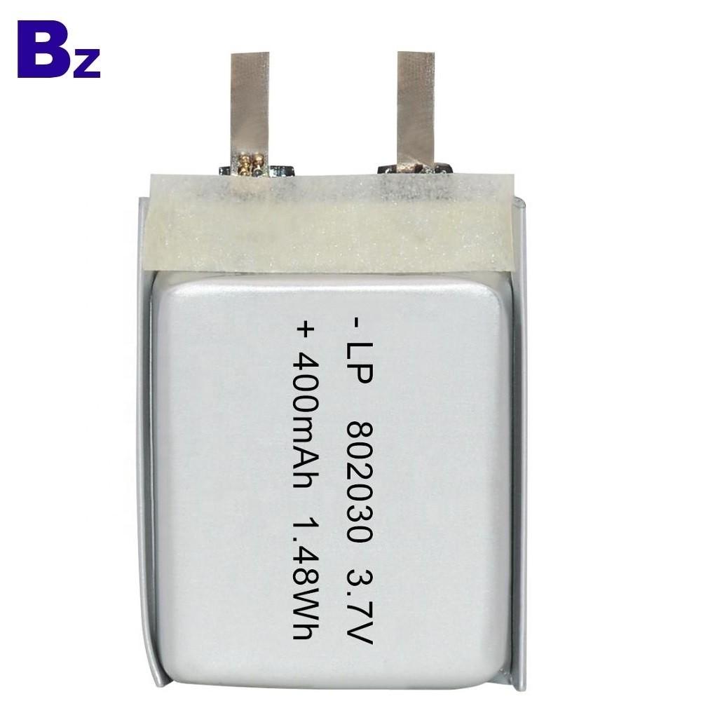 802030 400mAh 3.7V Lipo Battery