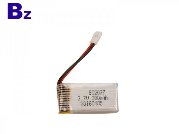 High Rate Battery - BZ 802037 - 380mah - 15c - 3.7v - Lithium Ion Battery - Rechargeable
