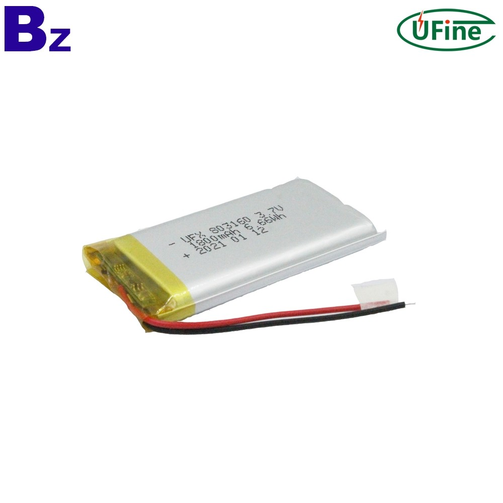 1800mAh Bluetooth Speaker Lithium Polymer Battery