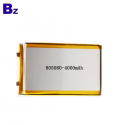 Shenzhen Best Lithium Battery Factory Custom Lipo Battery for Beauty and Healthy Life Device BZ 805080 4000mAh 3.7V Li-polymer Battery