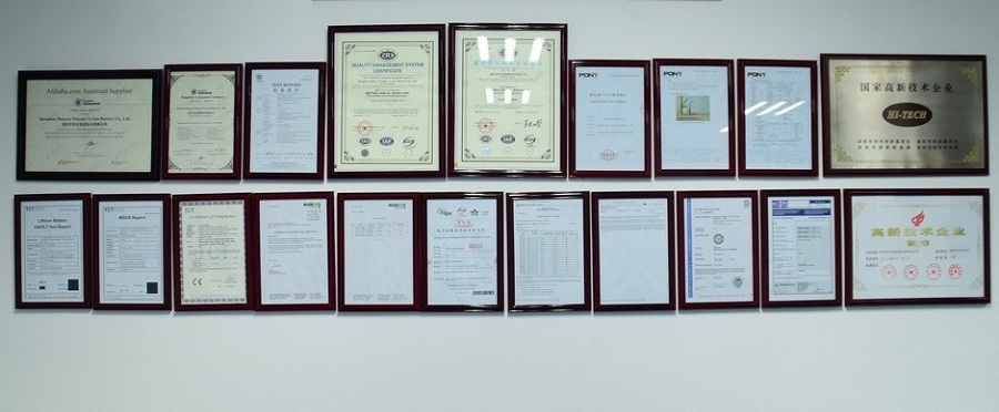 lithium ion polymer Battery Certifications