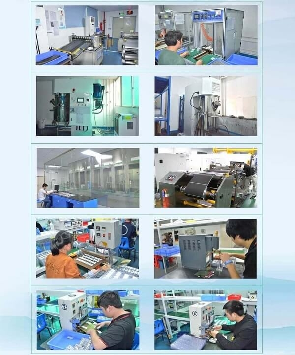 production steps of lithium battery cells