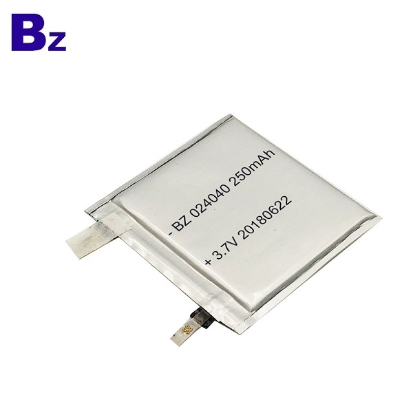 250mAh 3.7V Lipo Battery Cell