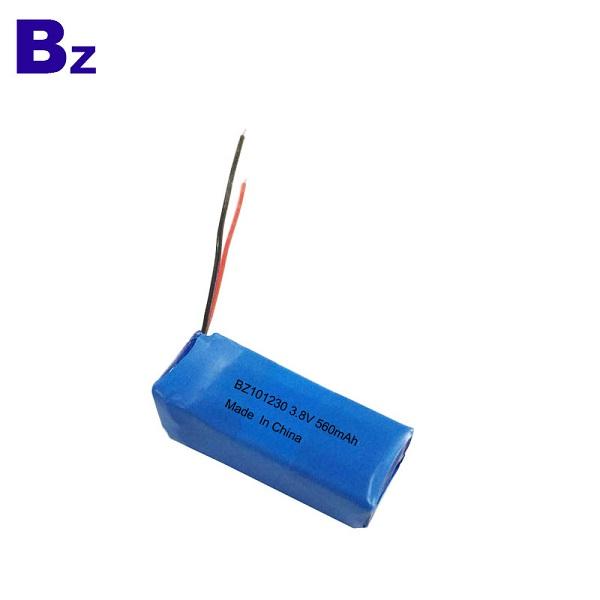 3.7V 560mAh Rechargeable LiPo Battery
