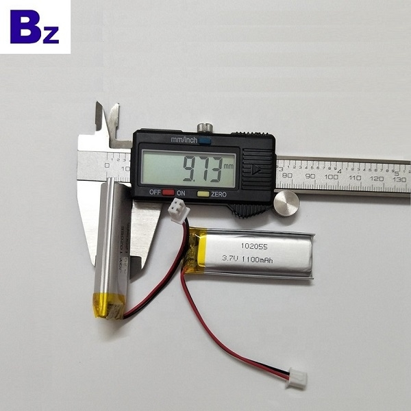 102055 1100mAh 3.7V Rechargeable LiPo Batte