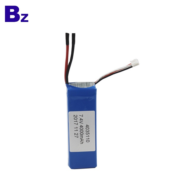 4000mah 7.4V 5C Rechargeable LiPo Battery Pack