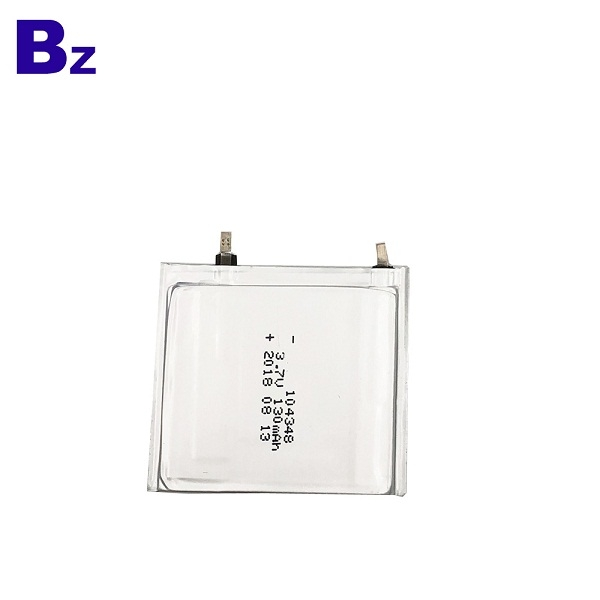 104348 130mAh 3.7V Super Thin Battery