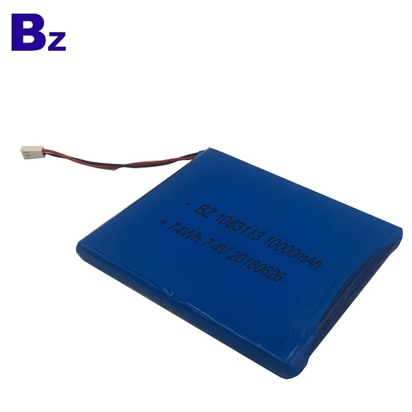 10Ah 7.4V Polymer Li-Ion Battery