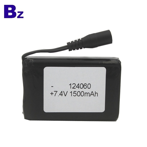 124060 7.4V 1500mAh Polymer Li-ion Battery