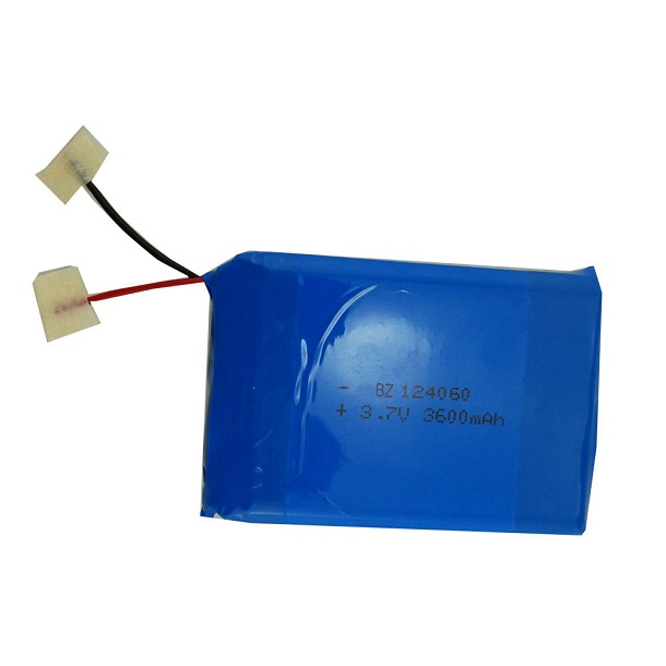 124060 3600mah 3.7V Lipo Battery Pack