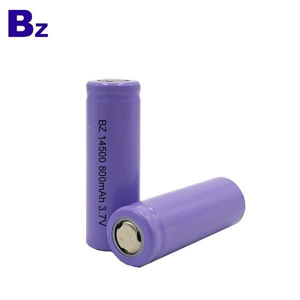 14500 800mAh 3.7V Rechargeable Li-ion Battery