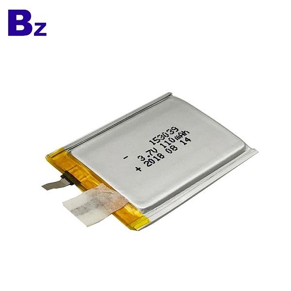 110mAh 3.7V Super Thin Battery