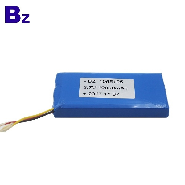 1555105 10000mAh 3.7V Rechargeable Polymer Li-ion Battery