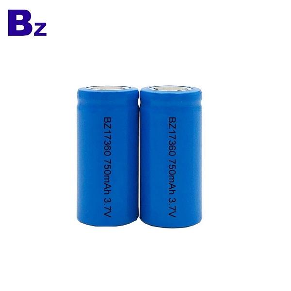 17360 750mAh 3.7V Rechargeable Li-ion Battery