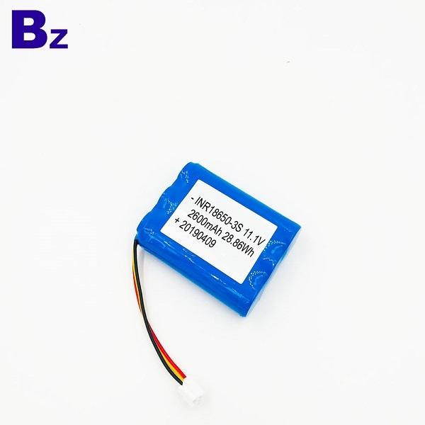 18650 3S 2600mAh 11.1V Rechargeable Li-ion Battery