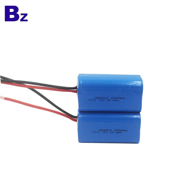 Cylindrical Battery BZ 18650 4S 2000mAh 14.8V Rechargeable Li-ion Battery