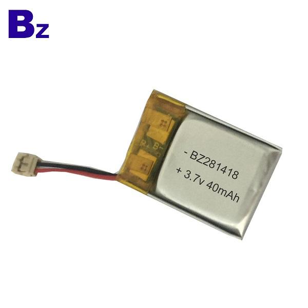 40mAh Rechargeable LiPo Battery