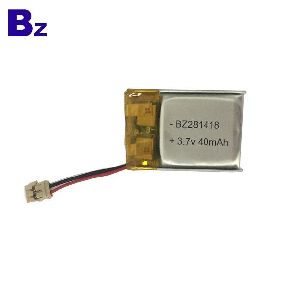 281418 40mAh 3.7V Rechargeable LiPo Battery