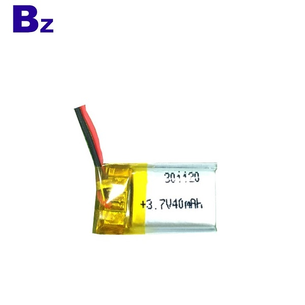 301120 40mAh 3.7V Rechargeable Battery