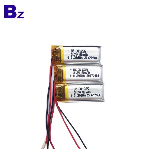 3.7V 80mAh LiPo Battery