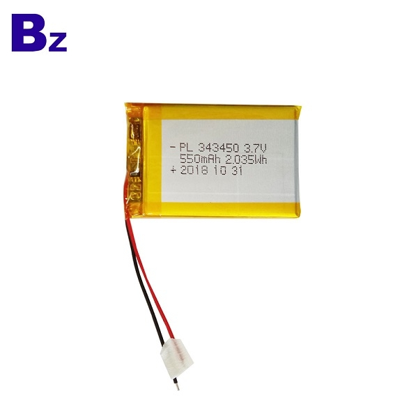 550mah 3.7V Rechargeable Li-ion Polymer Battery
