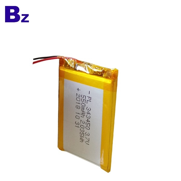 343450 550mah 3.7V Rechargeable Li-ion Polymer Battery