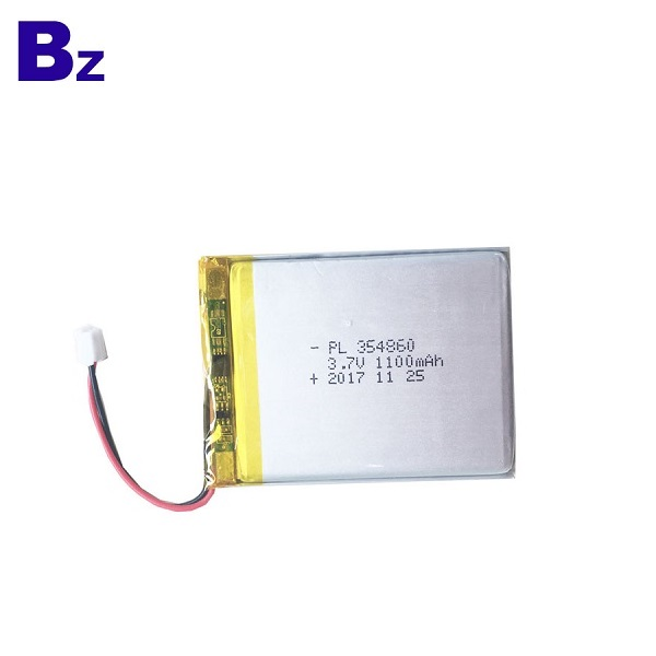 354860 1100mAh 3.7V Rechargeable LiPo Battery