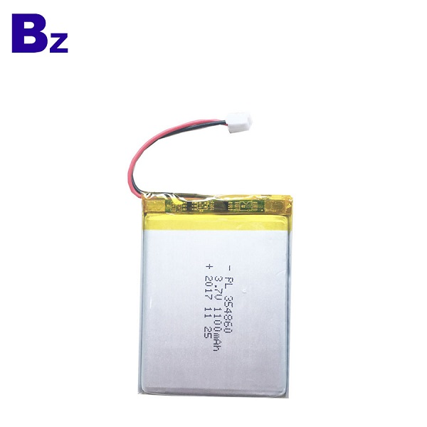1100mAh 3.7V Rechargeable LiPo Battery