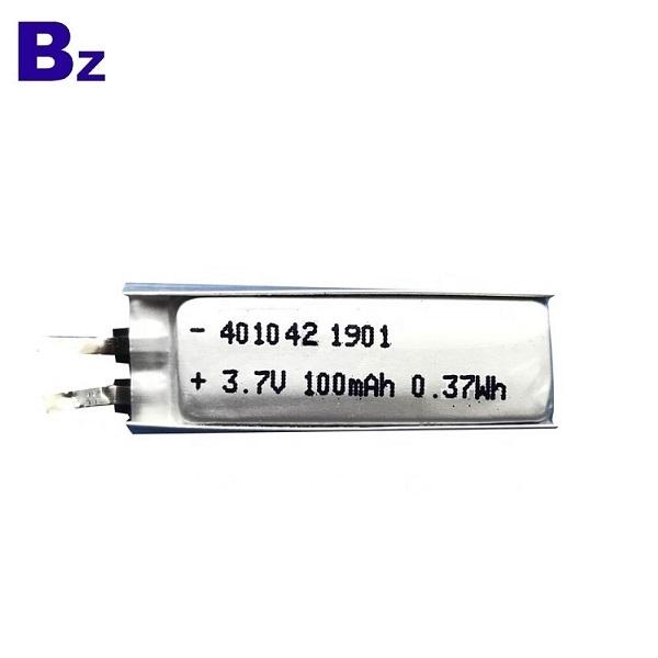 401042 3.7v 100mAh  lithium battery